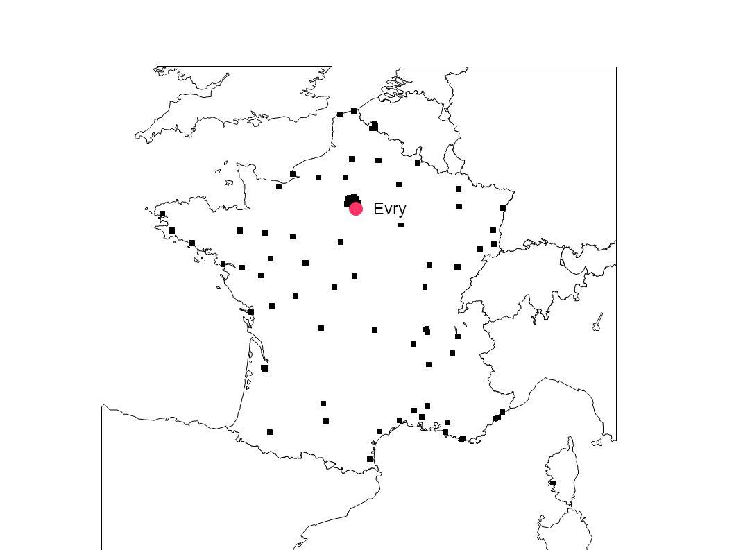 3) Des infrastructures: Grands axes autoroutiers de liaisons européennes Voie navigable au gabarit européen Tunnel sous la Manche Evry