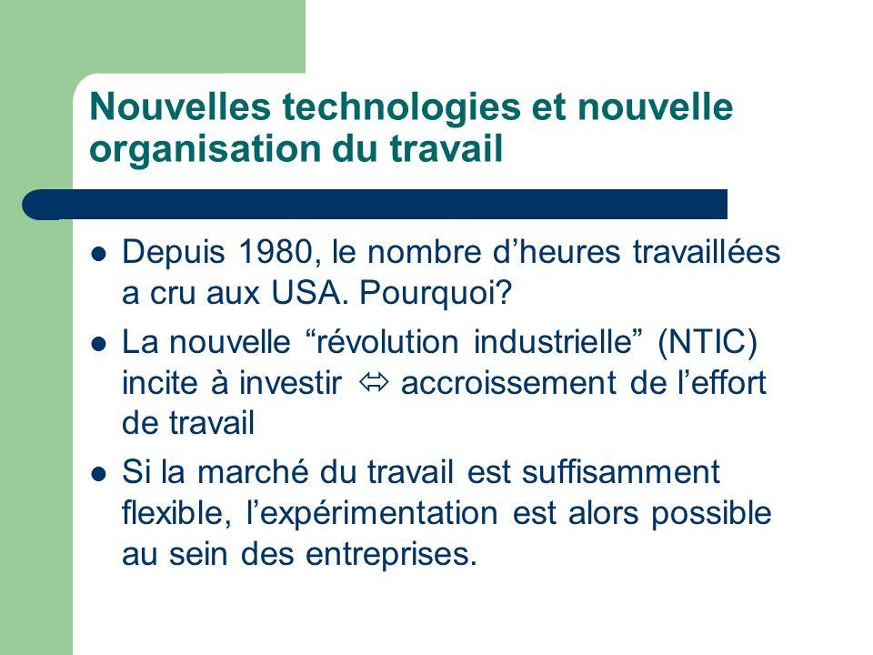 Changements organisationnels permis/accompagnant les NTIC Les changements organisationnels dont il est question ici ont pris racine aux Etats-Unis dans les années 80.