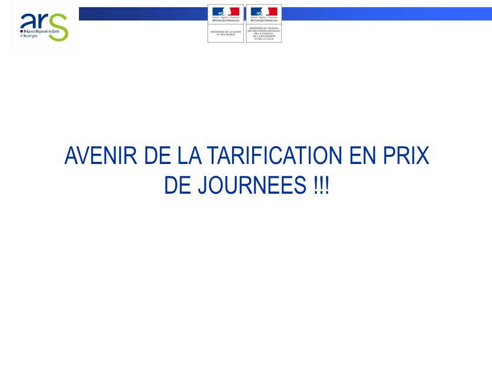 AVENIR DE LA TARIFICATION EN PRIX DE JOURNEES !!!