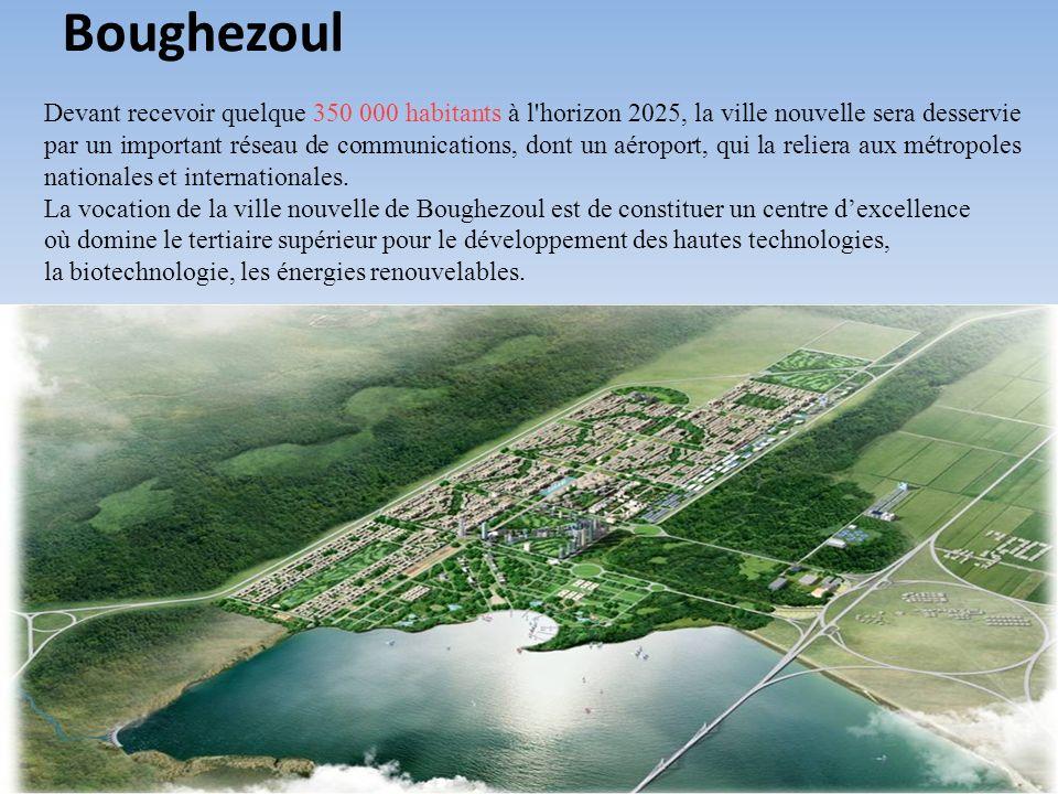 Devant recevoir quelque 350 000 habitants à l'horizon 2025, la ville nouvelle sera desservie par un important réseau de communications, dont un aéropo