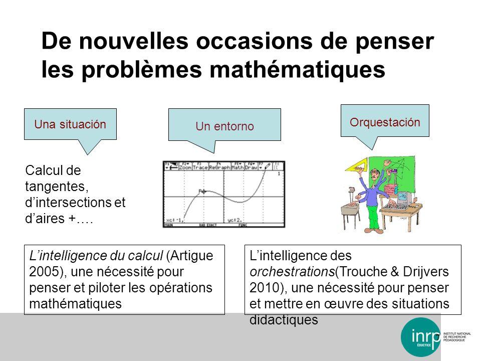 De nouvelles occasions de penser les problèmes mathématiques 7 Lintelligence du calcul (Artigue 2005), une nécessité pour penser et piloter les opérat