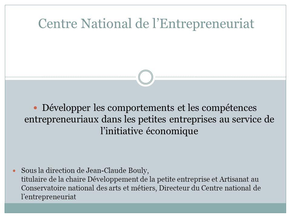 Développer les comportements et les compétences entrepreneuriaux dans les petites entreprises au service de linitiative économique Sous la direction d