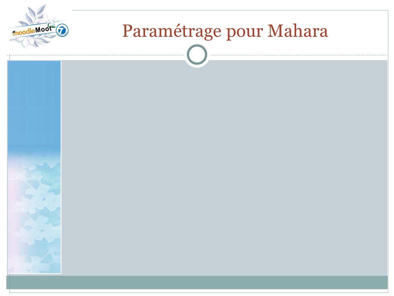 22.0 Paramétrage pour Mahara