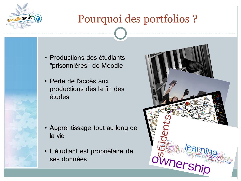 22.0 Pourquoi des portfolios ? Productions des étudiants