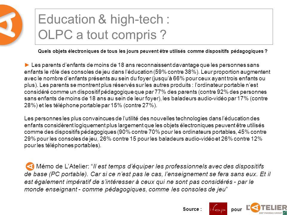Education & high-tech : OLPC a tout compris .