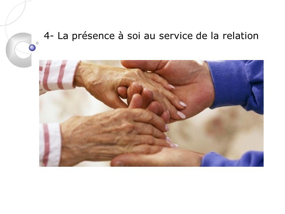 4- La présence à soi au service de la relation