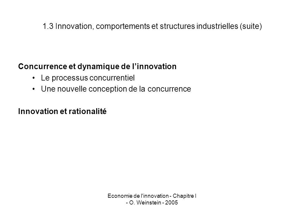 Economie de l innovation - Chapitre I - O.