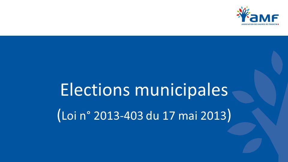 Elections municipales Communes de 1 000 habitants et plus III.