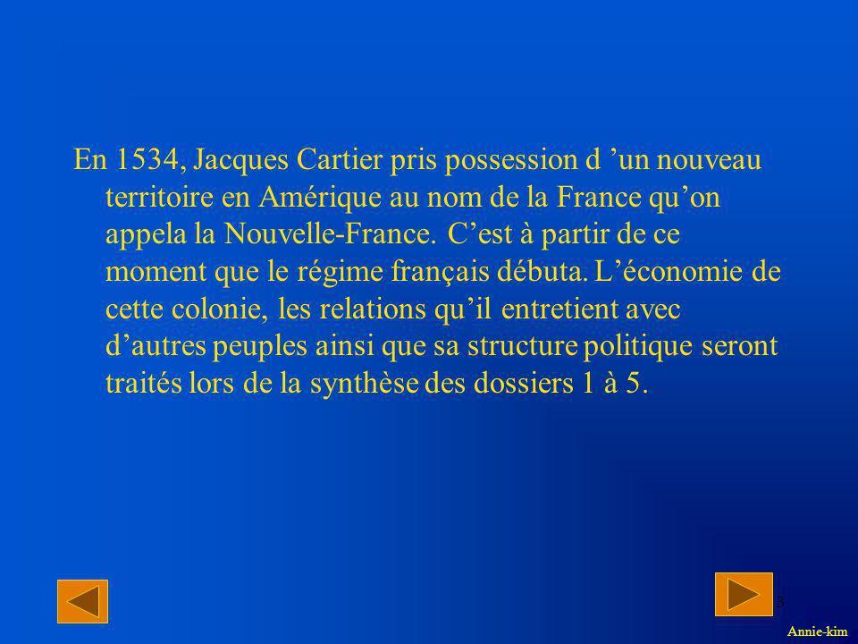 2 Plan provisoire Problématique: Comment le régime français exploitait-il son territoire .