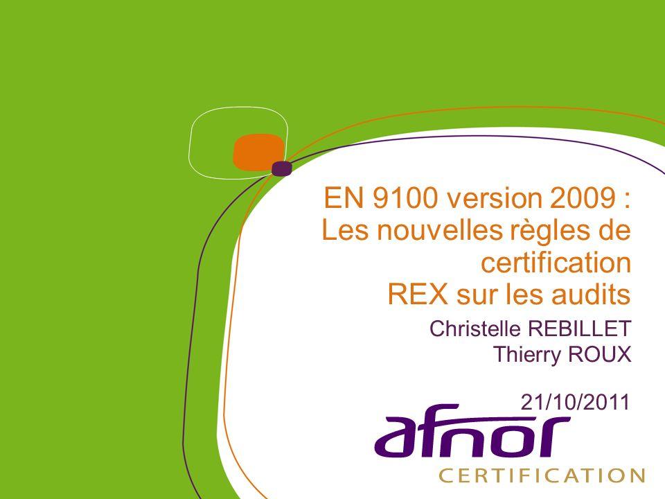 1 / Pour personnaliser les références : Affichage / En-tête et pied de page Personnaliser la zone Pied de page, Faire appliquer partout 12 Quelques Chiffres (source : base OASIS au 10/10/2011) Dans le monde : 14685 sites certifiés Dont 1177 en version 2009 soit 8% En France : 1525 sites certifiés Dont 74 en version 2009 soit 5% Pour AFNOR Certification : 745 sites certifiés (538 en France) dont 51 en version 2009 (37 en France)