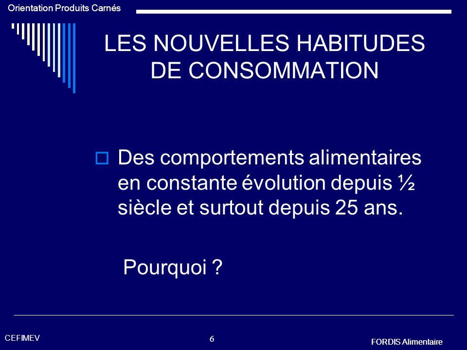 FORDIS Alimentaire Orientation Produits Carnés FORDIS Alimentaire CEFIMEV 46 RESPECT DE LA SECURITE Le tablier de protection