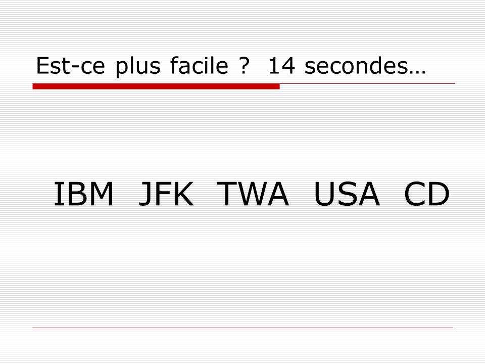 Est-ce plus facile 14 secondes… IBM JFK TWA USA CD