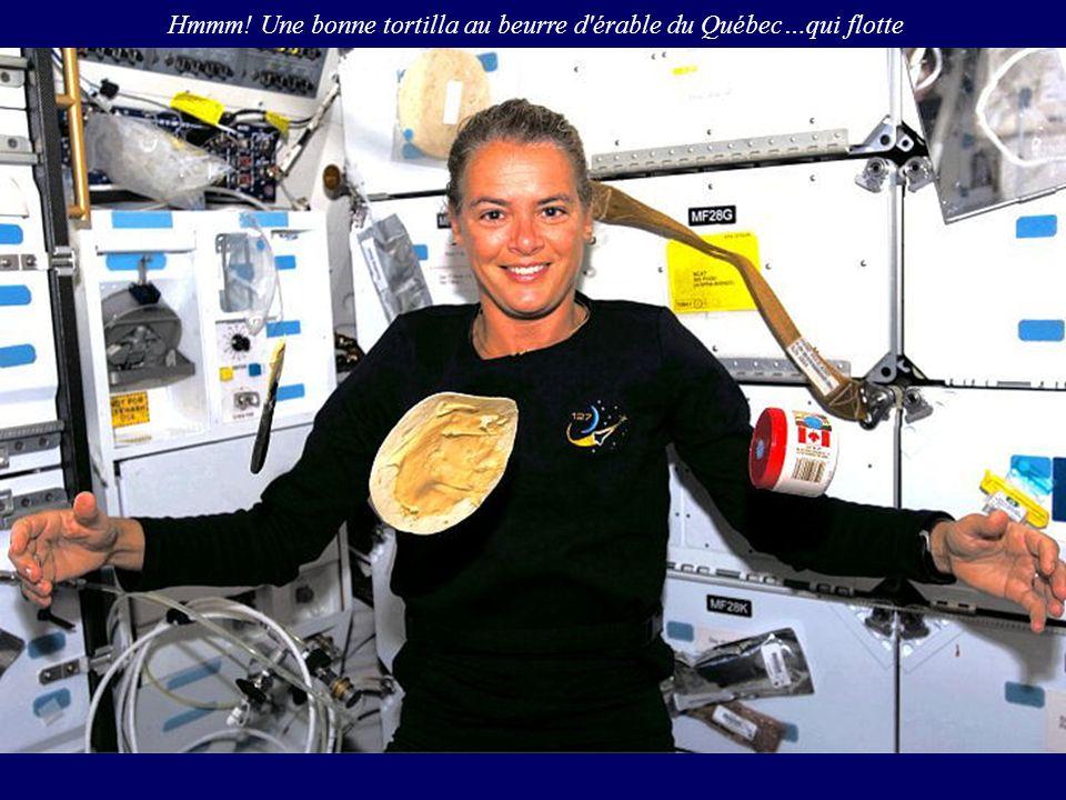 Hmmm! Une bonne tortilla au beurre d'érable du Québec…qui flotte