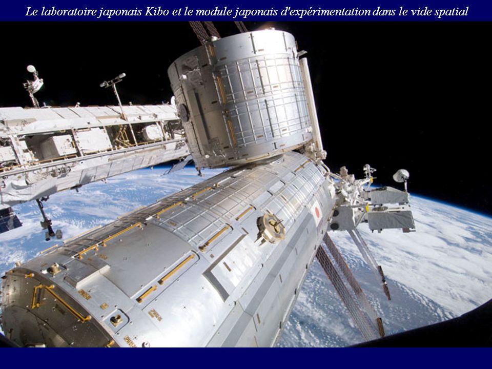 Le laboratoire japonais Kibo et le module japonais d'expérimentation dans le vide spatial