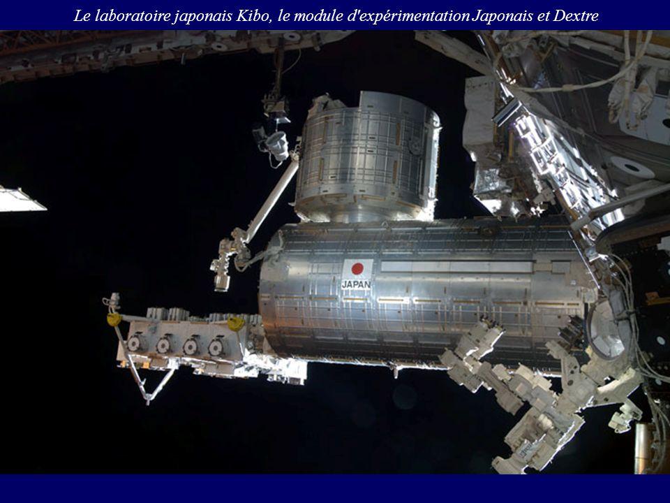 Le laboratoire japonais Kibo, le module d'expérimentation Japonais et Dextre