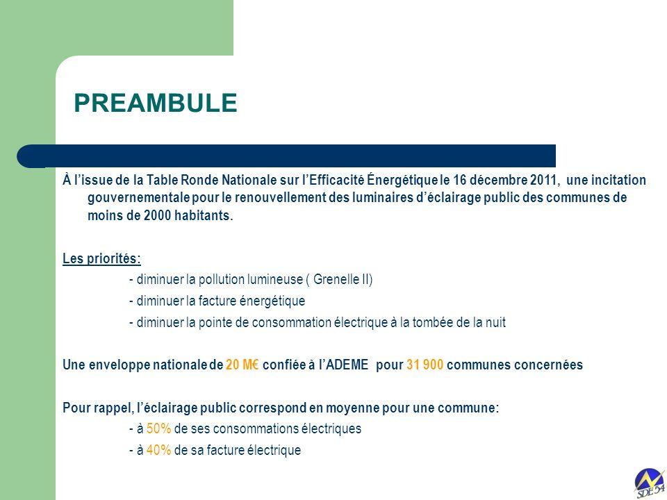 PREAMBULE À lissue de la Table Ronde Nationale sur lEfficacité Énergétique le 16 décembre 2011, une incitation gouvernementale pour le renouvellement