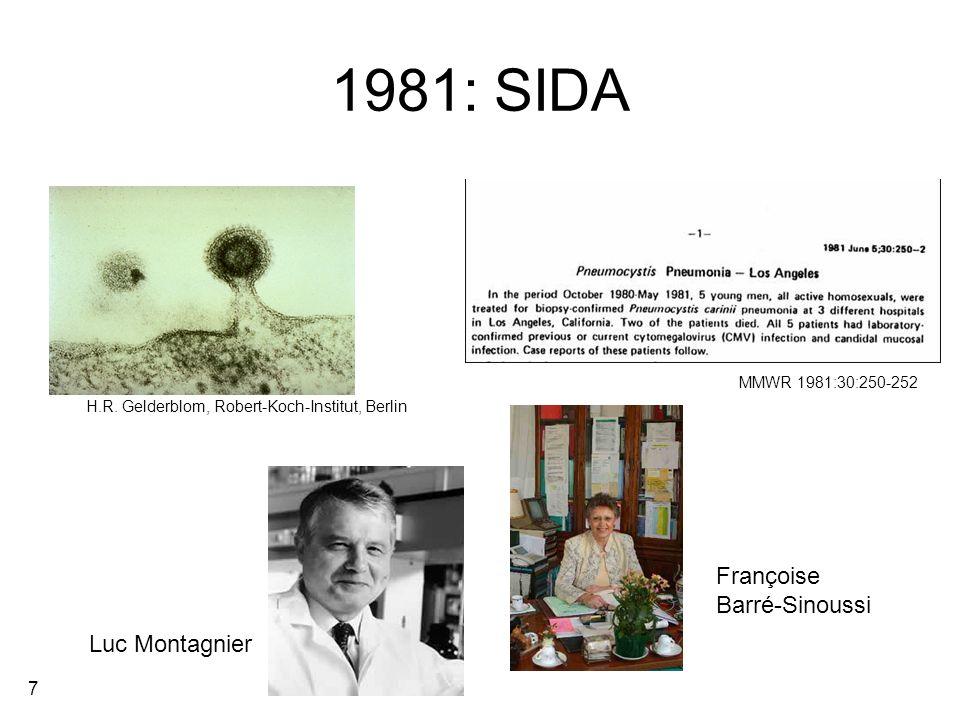 8 Concept des maladies émergentes Infections récemment devenues épidémiques en population humaine (SIDA, SRAS).