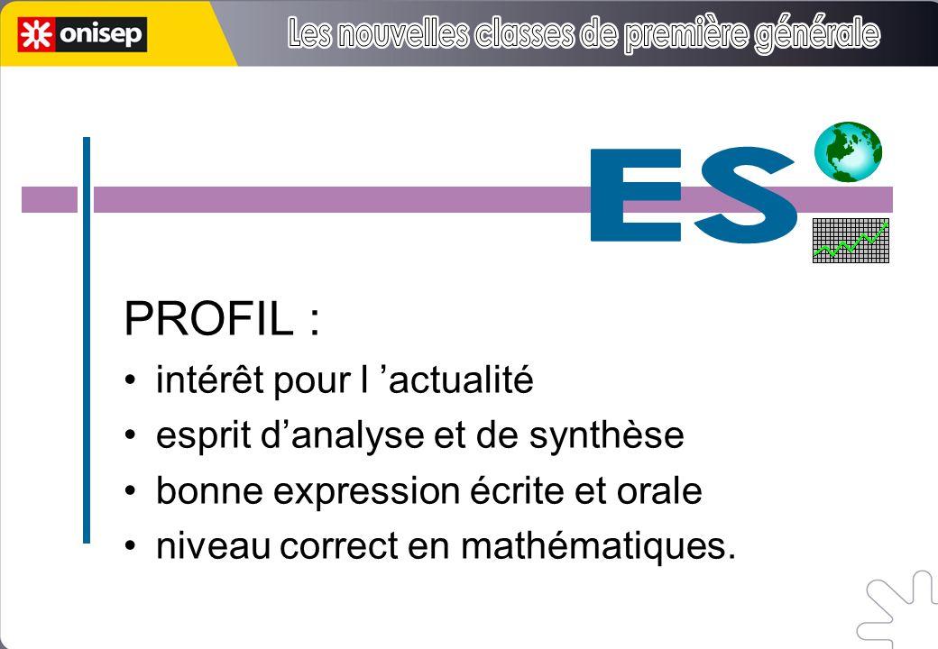 5h 3h 1h30 PROFIL : intérêt pour l actualité esprit danalyse et de synthèse bonne expression écrite et orale niveau correct en mathématiques.