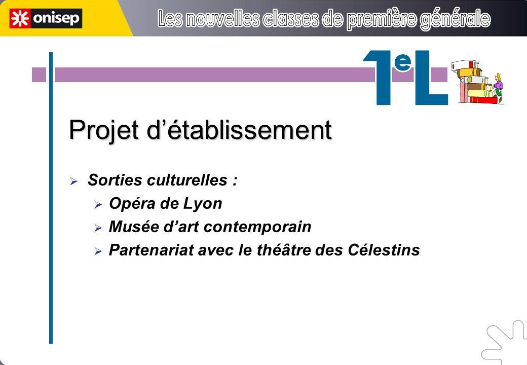 2h 1h30 5h 8h 3h Projet détablissement Sorties culturelles : Opéra de Lyon Musée dart contemporain Partenariat avec le théâtre des Célestins
