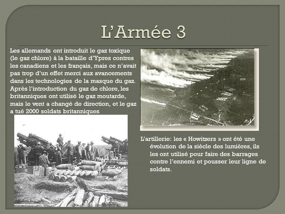 Lartillerie: les « Howitzers » ont été une évolution de la siècle des lumières, ils les ont utilisé pour faire des barrages contre lennemi et pousser leur ligne de soldats.