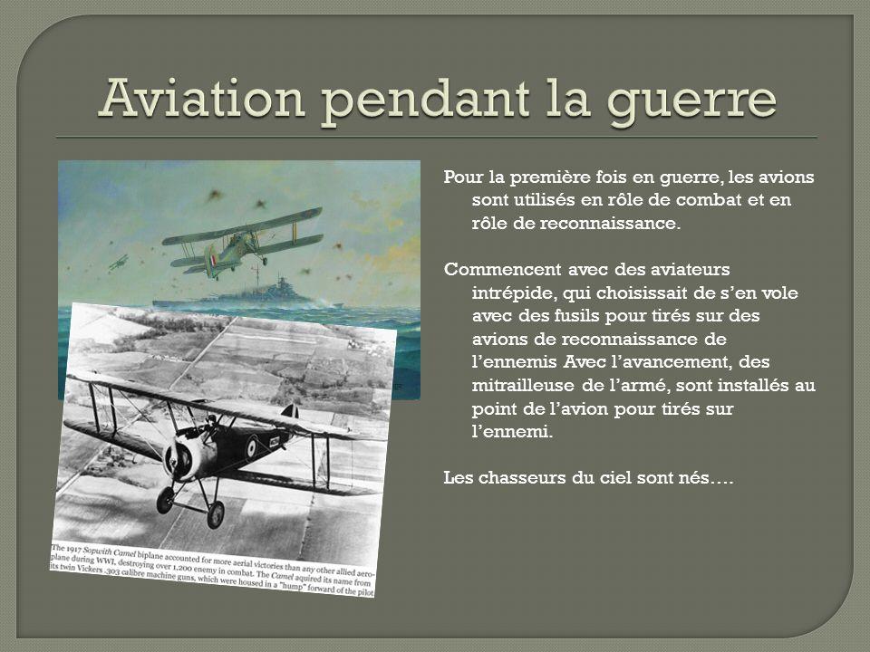 Pour la première fois en guerre, les avions sont utilisés en rôle de combat et en rôle de reconnaissance.