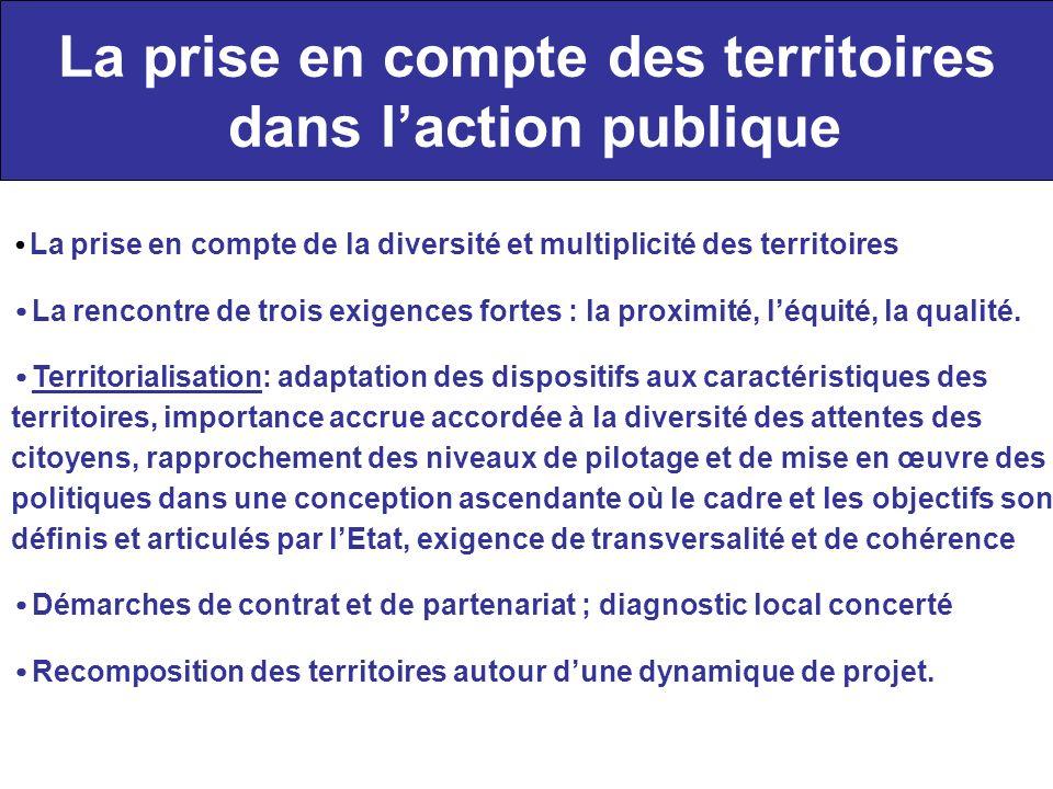 La prise en compte des territoires dans laction publique La prise en compte de la diversité et multiplicité des territoires La rencontre de trois exig