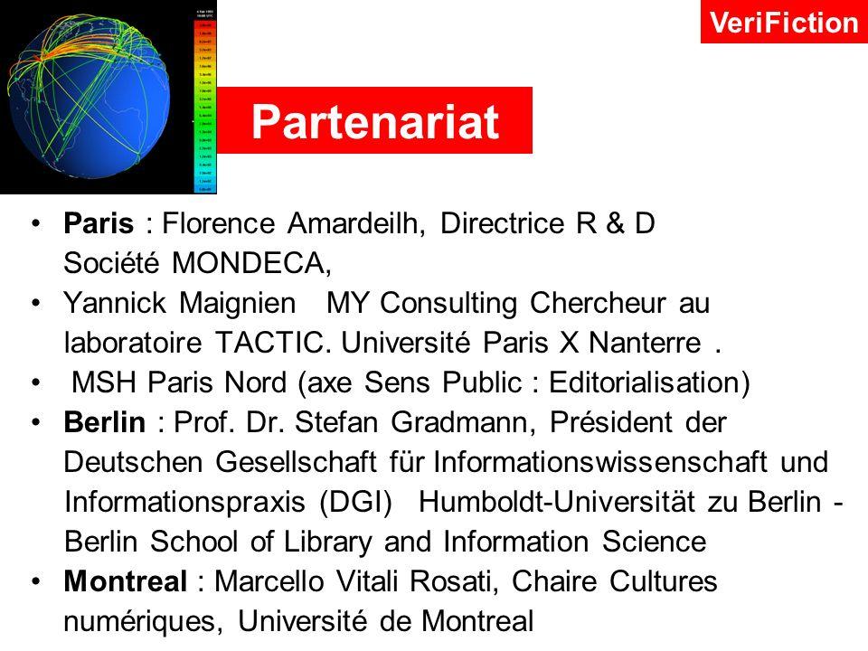 Partenariat Paris : Florence Amardeilh, Directrice R & D Société MONDECA, Yannick Maignien MY Consulting Chercheur au laboratoire TACTIC.