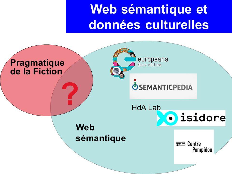 HdA Lab Pragmatique de la Fiction Web sémantique Web sémantique et données culturelles