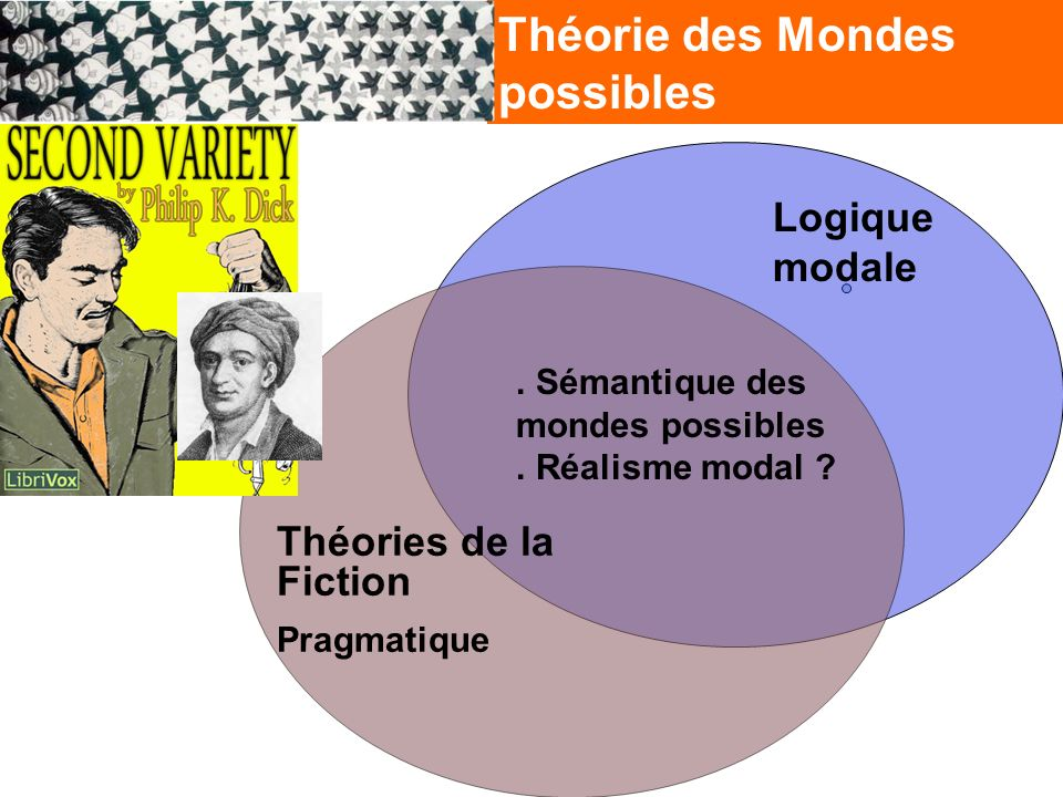 Théorie des Mondes possibles Logique modale Théories de la Fiction Pragmatique.