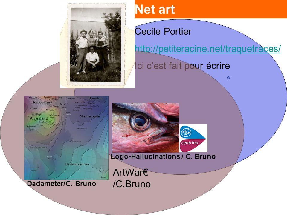 Net art Cecile Portier http://petiteracine.net/traquetraces/ Ici cest fait pour écrire Dadameter/C.