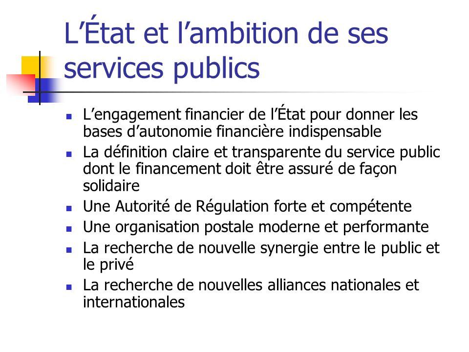 LÉtat et lambition de ses services publics Lengagement financier de lÉtat pour donner les bases dautonomie financière indispensable La définition clai