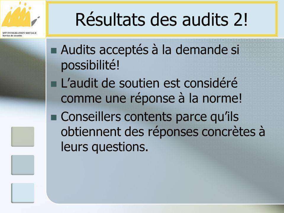 Audits acceptés à la demande si possibilité.