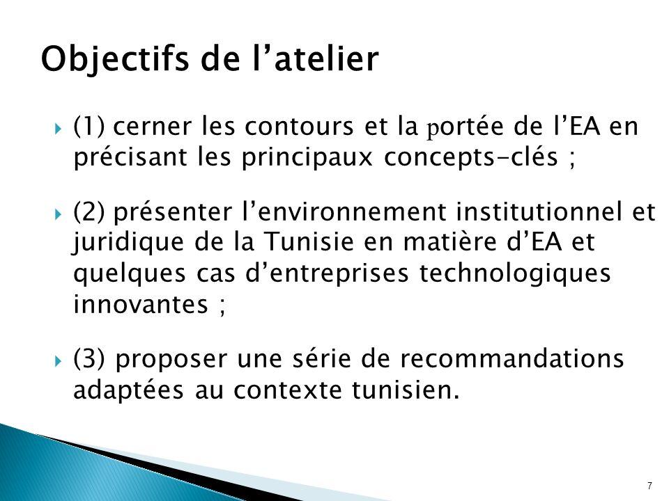 7 (1) cerner les contours et la p ortée de lEA en précisant les principaux concepts-clés ; (2) présenter lenvironnement institutionnel et juridique de