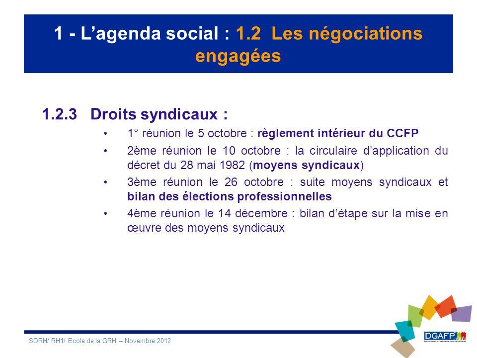 2 – Les principaux chantiers RH : 2.1 La démarche RSEE Le contexte : - Rénovation, avant la fin 2012, de la circulaire du PM du 3 décembre 2008 relative à la démarche « Etat exemplaire » 2013/2020.