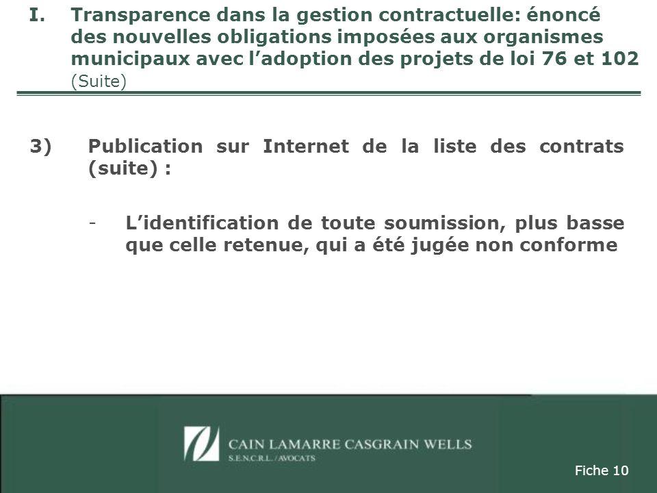 4)Restriction à la divulgation du nombre et de lidentité des soumissionnaires / art.