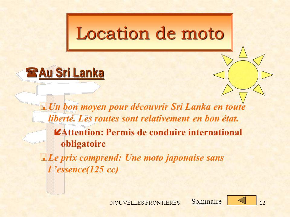 NOUVELLES FRONTIERES12 Location de moto ( Au Sri Lanka <Un bon moyen pour découvrir Sri Lanka en toute liberté.