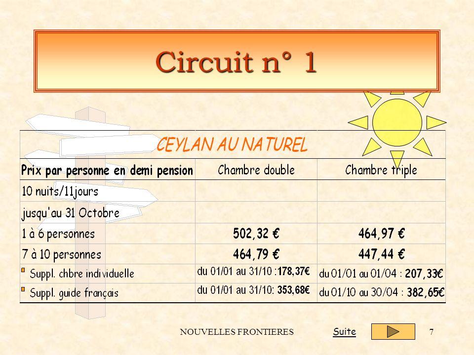 NOUVELLES FRONTIERES7 Circuit n° 1 Suite