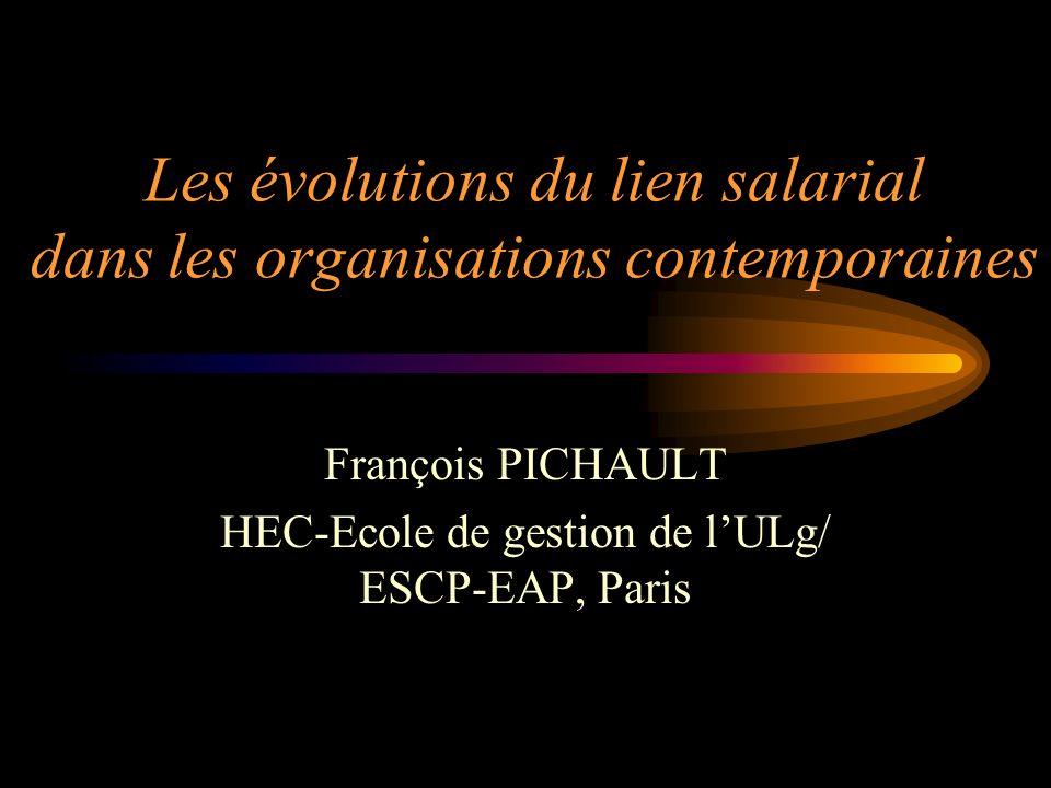 Les évolutions du lien salarial dans les organisations contemporaines François PICHAULT HEC-Ecole de gestion de lULg/ ESCP-EAP, Paris
