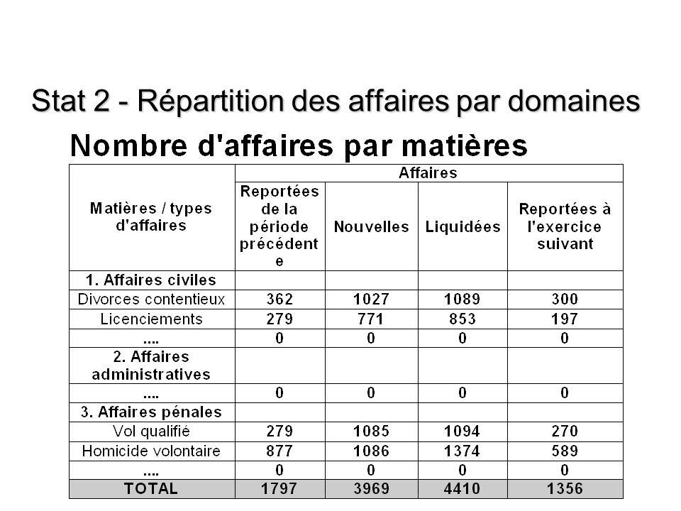 (c) CEPEJ - ISM Maroc 201311 ACSM 2013 - © Conseil de l'Europe - CEPEJ - SATURN 11 Stat 2 - Répartition des affaires par domaines