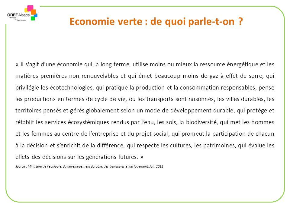 Economie verte : de quoi parle-t-on .
