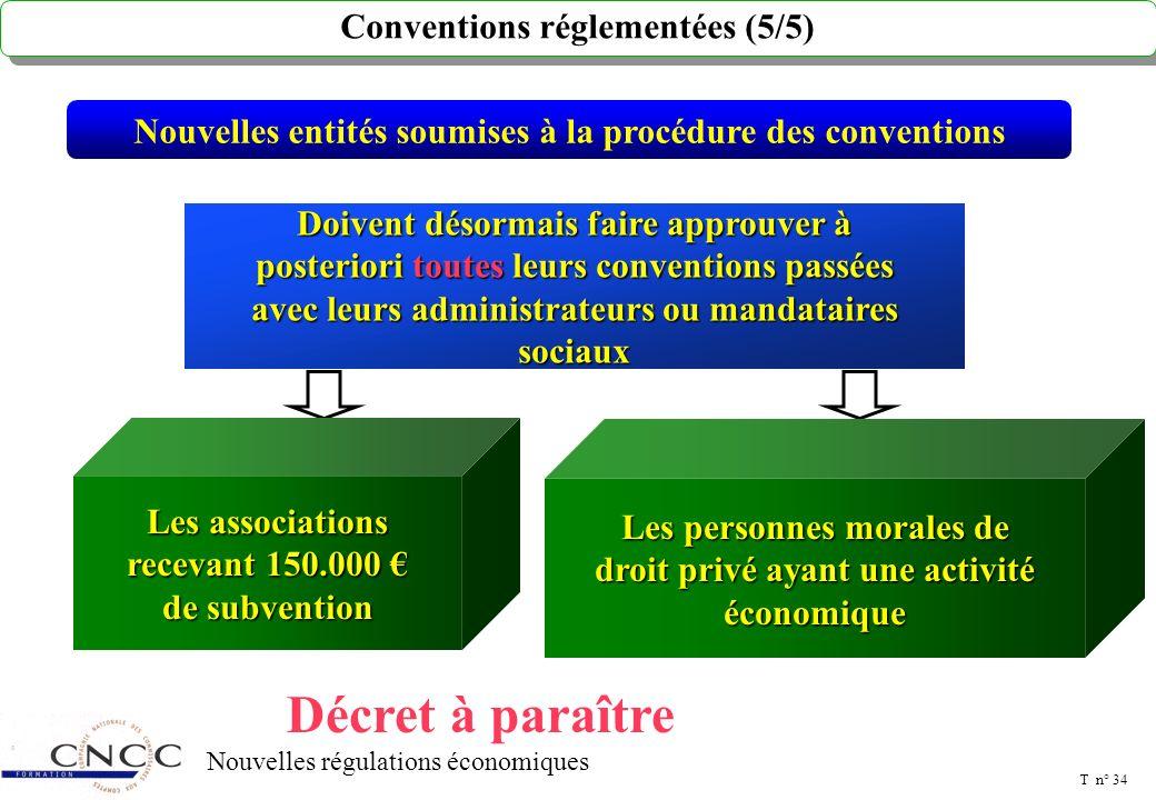 T n° 33 Nouvelles régulations économiques Société mère