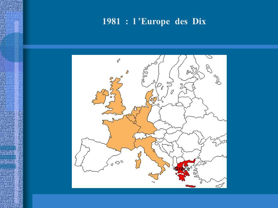 1973 : l Europe des Neuf Royaume Uni Irlande Danemark