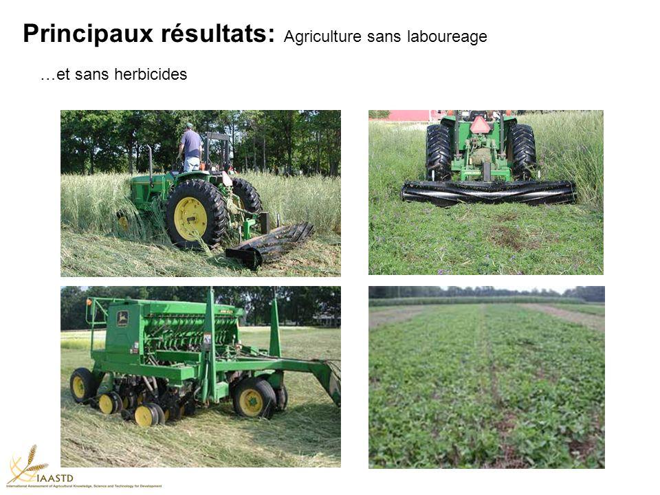 Principaux résultats: Agriculture sans laboureage …et sans herbicides