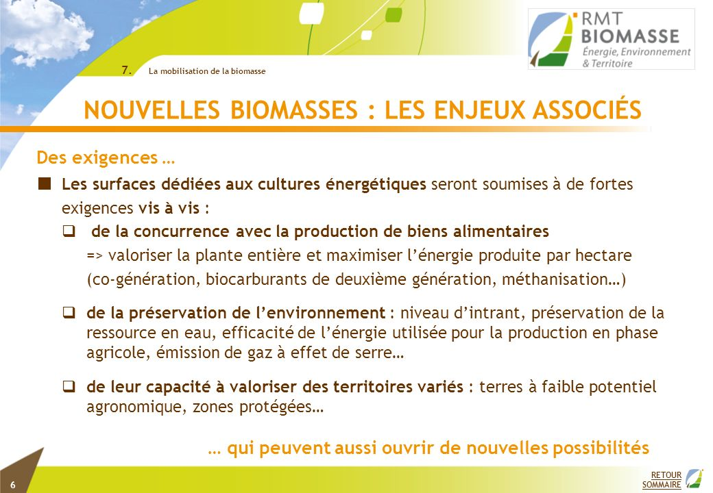 2 RETOUR SOMMAIRE © INRA 7.