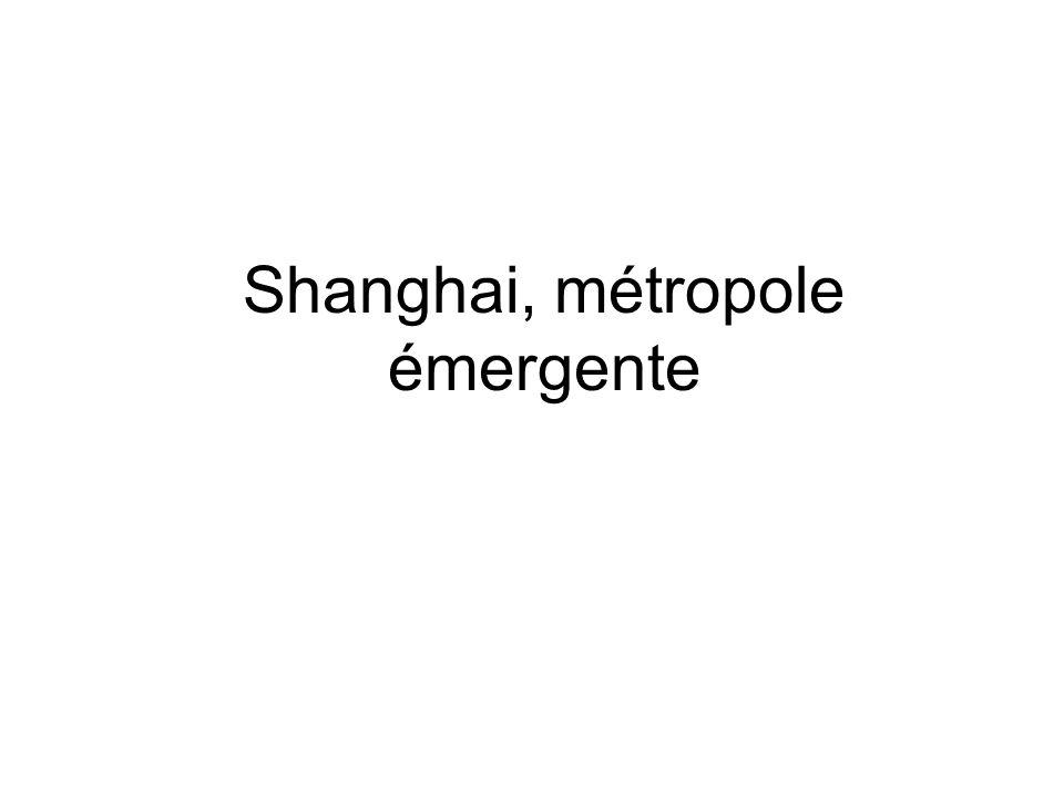 Le centre ville de Shanghai.