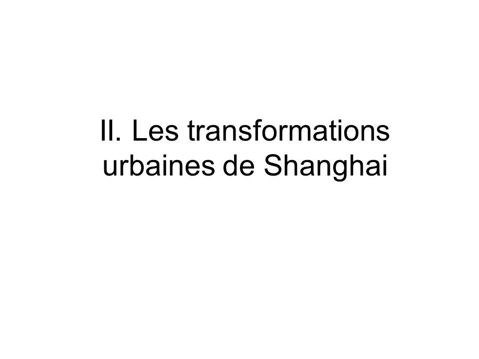II. Les transformations urbaines de Shanghai