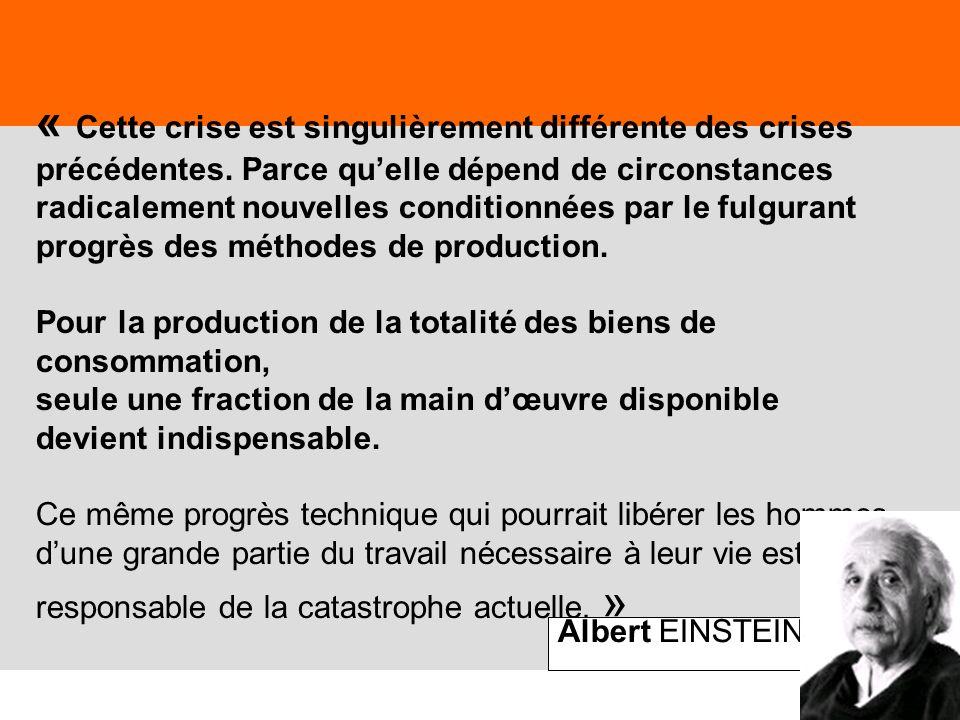 61 « Cette crise est singulièrement différente des crises précédentes. Parce quelle dépend de circonstances radicalement nouvelles conditionnées par l