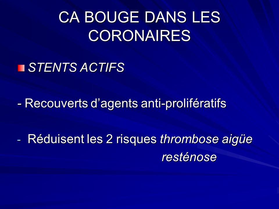 CA BOUGE DANS L HTA INDICATIONS « CIBLEES » - Thiazidiques : IC, sujet agé, systolique pure - Anse : IR, IC - BBL : coronarien, IC, HTA gravidique,FA - INCA : sujet agé, systolique pure, angor, artérite - IEC : IC, post IDM, D1, nephropathie non diabétique, AVC - AA2 : Nephropathie + D2, microalbuminurie, HVG