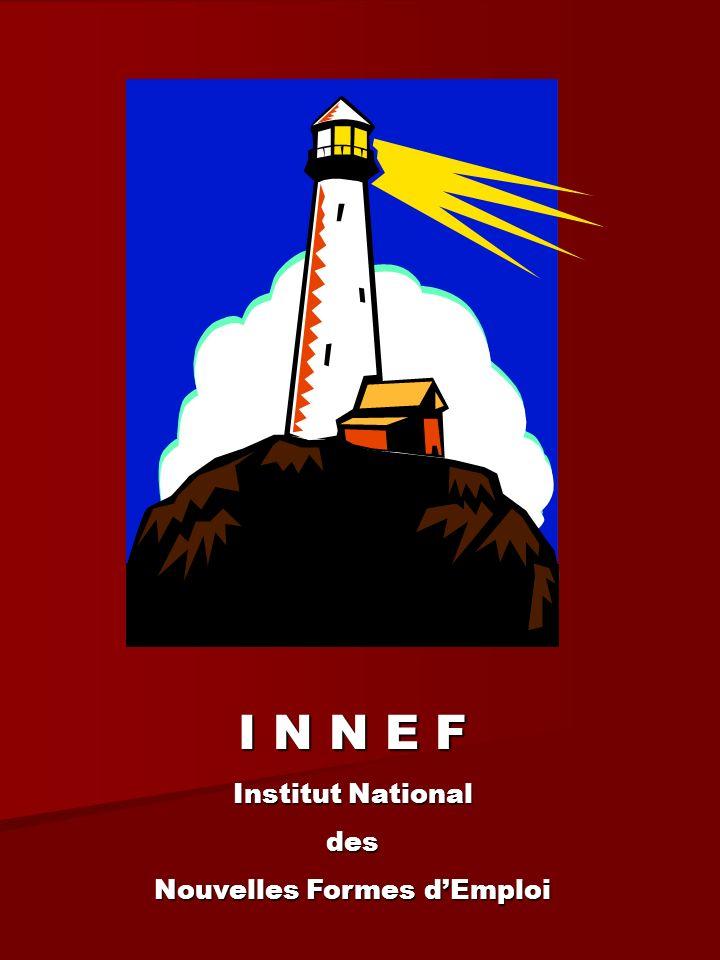 INNEF est un collectif, au croisement de nombreux réseaux lensemble des réseaux référents des NEF/NOT, Réseaux nationaux, régionaux, locaux Réseaux professionnels Réseaux professionnels Avec différentes entrées : Techniques opératoires liées à lemploi, linsertion, la création dentreprisses, la formation SocialeSociologiqueÉconomiqueInstitutionnelleTerritoriale