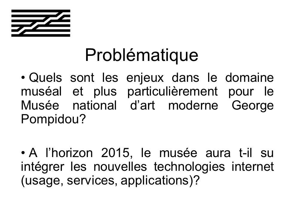 Problématique Quels sont les enjeux dans le domaine muséal et plus particulièrement pour le Musée national dart moderne George Pompidou.